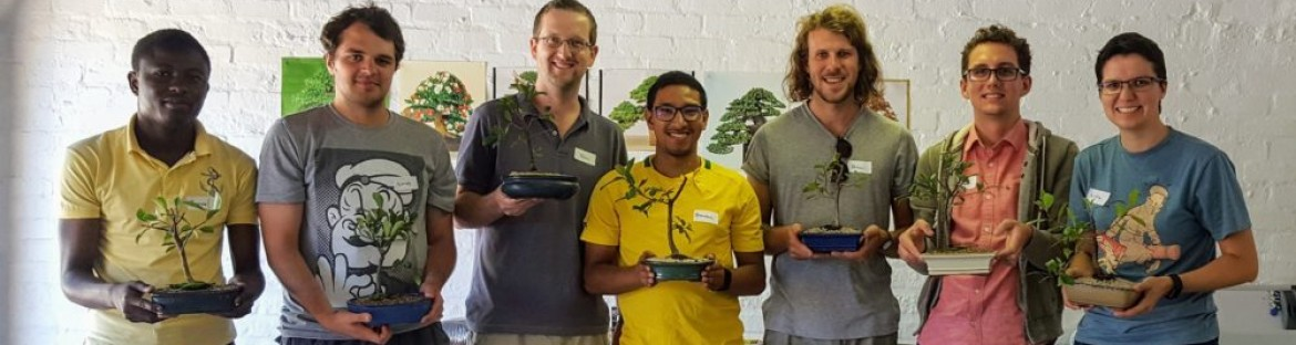 Research group branches out for a day of bonsai